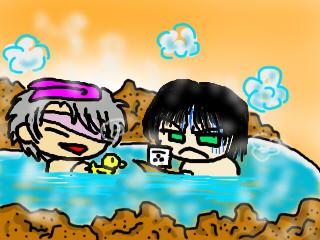 お風呂も一緒♪