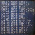 2010年10月頃のペット霊園合同墓地のメモリアルプレート