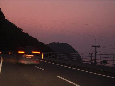 海沿いの朝