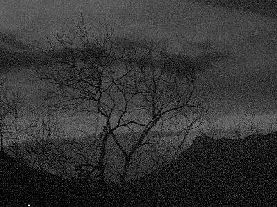 夕闇の行縢山