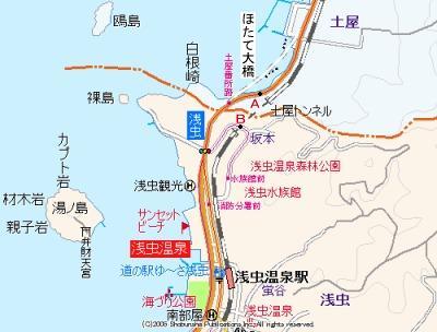 土屋トンネル地図