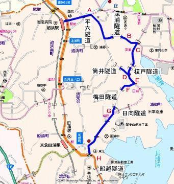 横須賀隧道めぐり地図01
