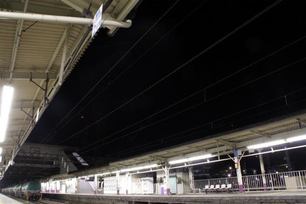 深夜の甲府駅