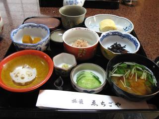 朝食(ゑちご屋:奈良井宿)