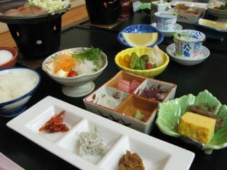 朝食(横谷温泉旅館)