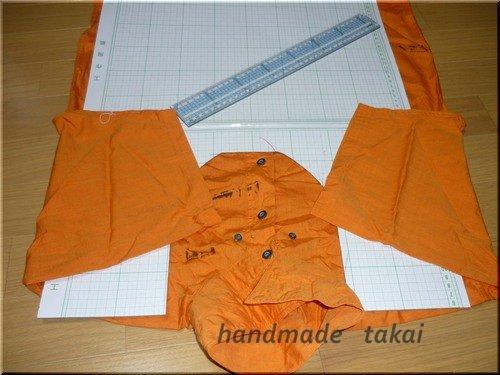シャツを利用したエコバック (3