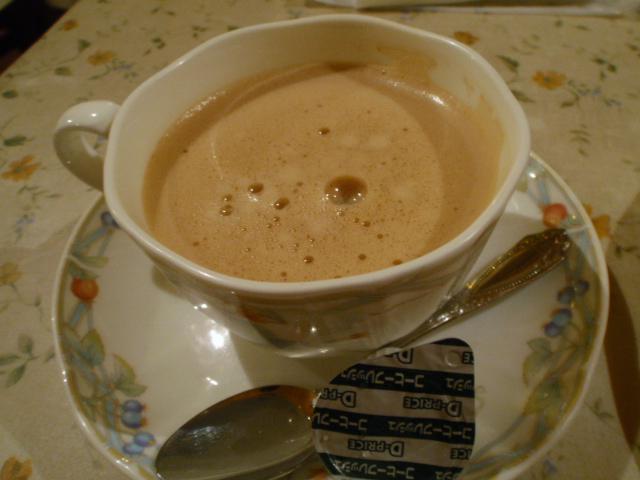 コーヒーでも満足