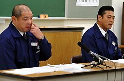 現役力士の野球賭博について会見する日本相撲協会