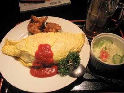 侍ビックリオムライス定食480円