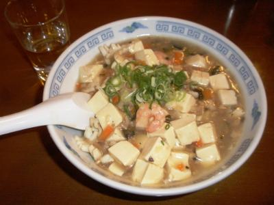 金明飯店海鮮豆腐丼500円
