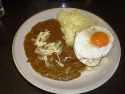ベントタ20100125日替りチキンチーズカレー目玉焼750円