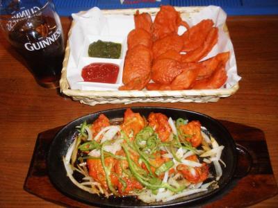 Synインド料理出前ベジタブルパコラ800円チキンティッカ800円