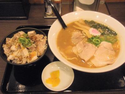 梅田一番味噌ラーメン601円チャーシュー丼セット151円
