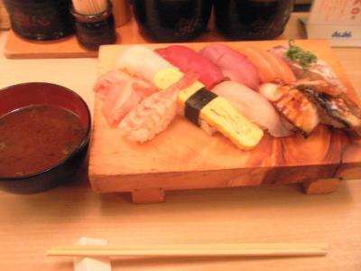 ぶっちぎり寿司魚心本店ランチ満腹定食850円