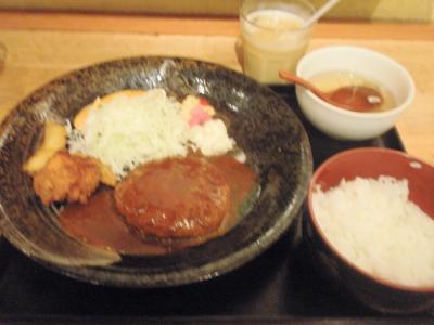 ちびすけ阪急三番街店デミハンバーグ定食680円