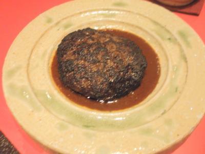 艶食月島屋大阪北新地店馬肉ハンバーグ