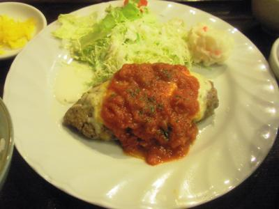 サンシーロハンバーグ定食ハンバーグトマトソース