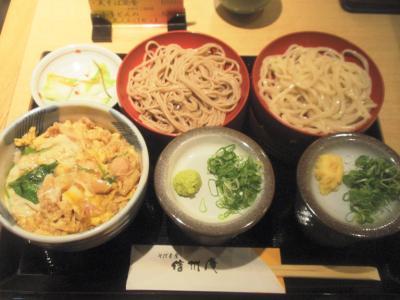信州庵あいもりと小さな丼セット850円親子丼