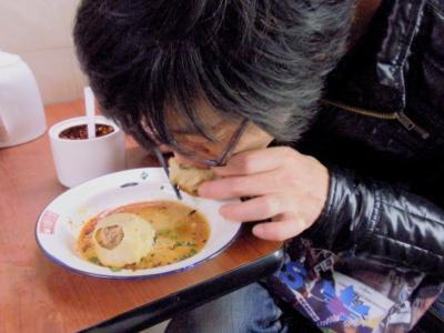 小楊生煎館黄河路店焼小龍包を食うHIDEYU