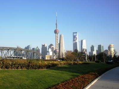 黄浦公園から上海タワー