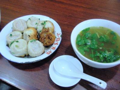 小楊生煎館本店焼小龍包5.5元カレースープ7元