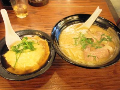 愛きょう屋天然熟成湯浅醤油ラーメン650円+200円で天津焼飯セット