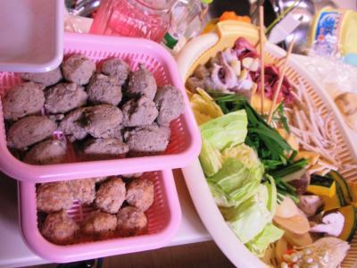 家ご飯20101219ちゃんこ鍋材料