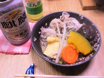 家ご飯20101219ちゃんこ鍋をミツカンぽん酢で