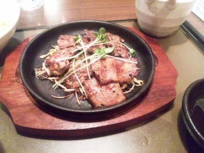 生ハムと酒処アカリひとくちステーキ定食ステーキ