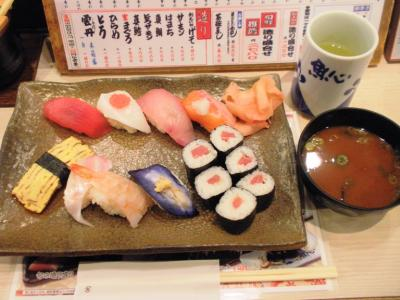 元祖ぶっち切り寿司魚心梅田店満腹定食650円