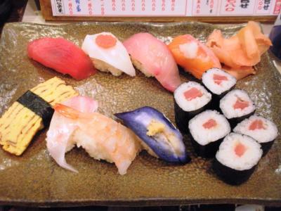 元祖ぶっち切り寿司魚心梅田店満腹定食寿司