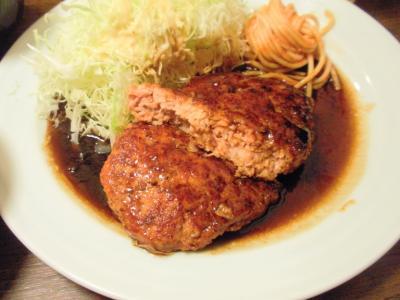 大阪トンテキトンバーグ定食トンバーグ断面