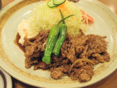 洋食屋とんはるスタミナ焼定食牛肉150g