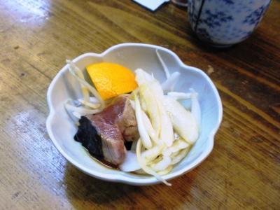 竹原マグロ定食1500円タタキ