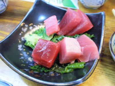 竹原マグロ定食1500円刺身