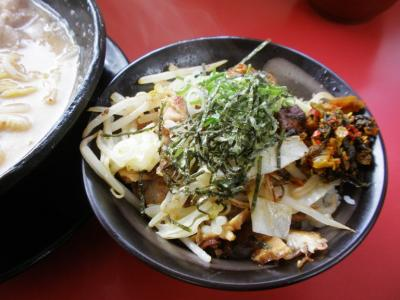 麺屋風火中丸Aセット950円漬けトロごはんに高菜