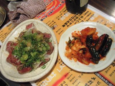 mannoya Beef Garden amemuraキムチとタタキ