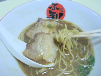 阪神百貨店四国物産展ふく利ラーメン玉子入り551円の麺
