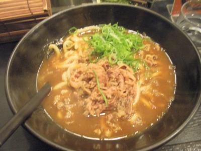 新梅田食道街カレーウドンリキマル肉カレーうどん600円