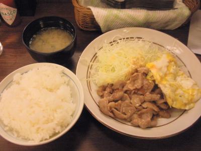 大阪トンテキ泉の広場店とんたま定食750円