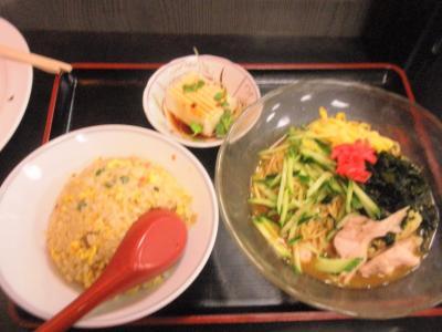 桜橋店冷麺セット650円冷奴付き