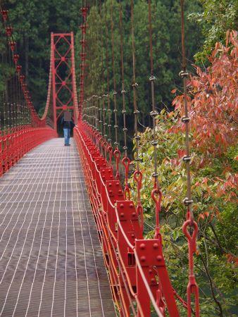 ちょっぴり紅葉と蔵王橋