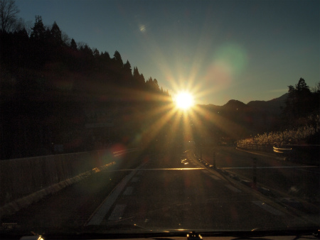 夕日キラリ
