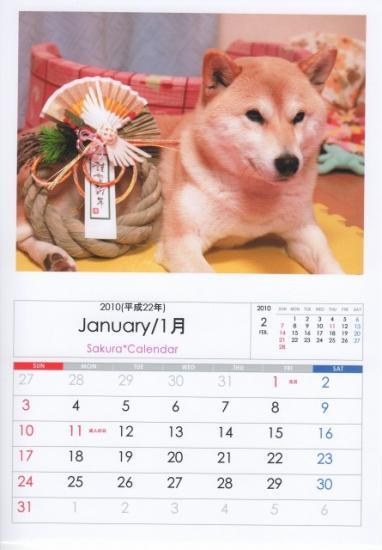 1月カレンダーA