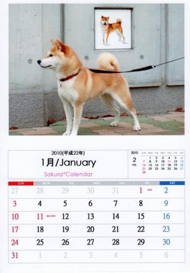 1月カレンダーB