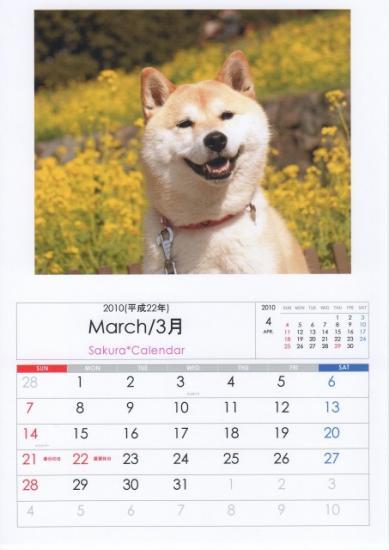 3月カレンダーB