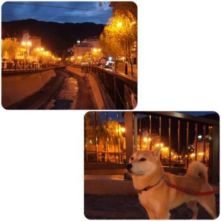 夕方の下呂温泉街