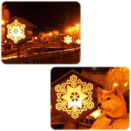 夜の温泉街