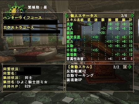 火事場ガンナー装備スキル2