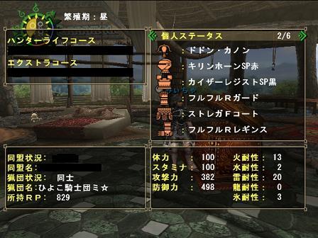 火事場ガンナー装備詳細